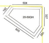 Hjørnetrug type 20-50GH mål