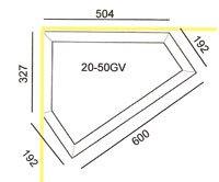 Hjørnetrug type 20-50GV mål