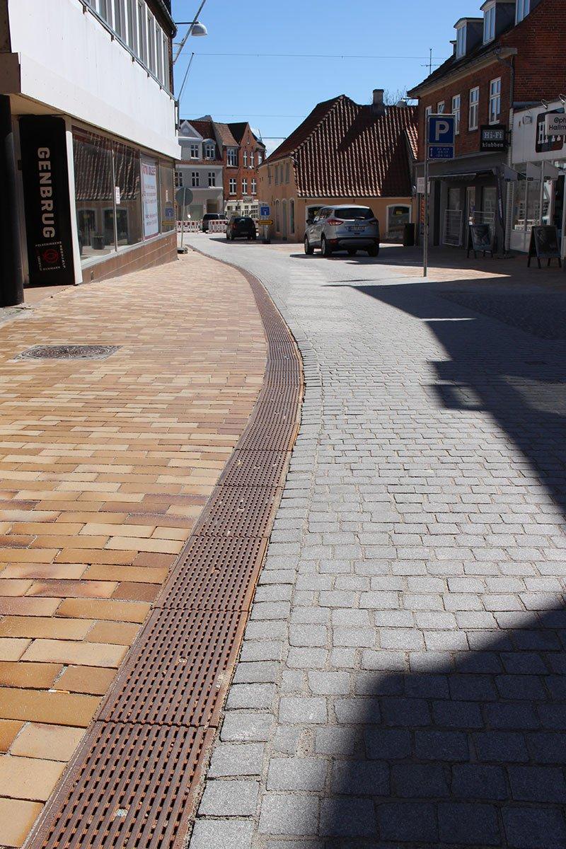 Afløbsrender - Åbenraa Midtby - Sapodrain System A20