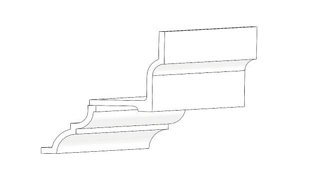 Ollerup gesimsen konstrueret af gesims G12-14 og G20-19