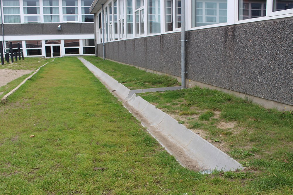 Afvanding og riste Grønnevangskolen